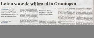 Loten voor de wijkraad in Groningen (Trouw)