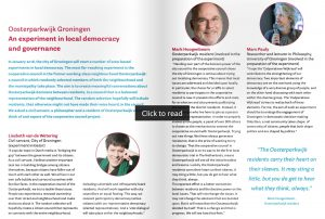 An experiment on local democracy and governance | Sustainable Society | University of Groningen