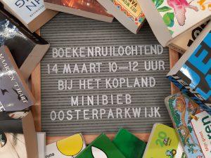 Minibieb Oosterpark organiseert boekenruilochtend op 14 maart